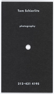 Business Card for Tom Schierlitz Photography