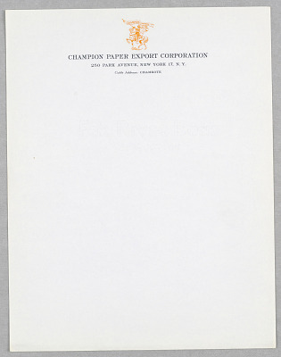 Champion Paper Export Corporation, New York