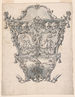 Design for a back panel of a coach