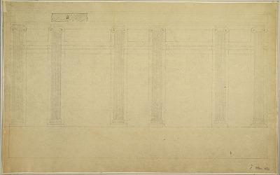 Elevation of Wall opposite Room Windows designed by Adrien Masreliez