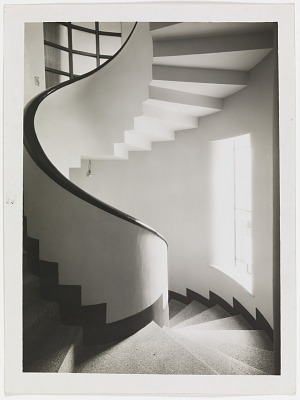 Photograph of Spiral Staircase in Robert Mallet-Stevens House, Paris