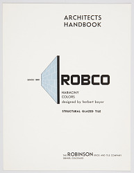 Robco Architects Handbook, Structural Glazed Tile