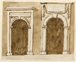Two doorcases