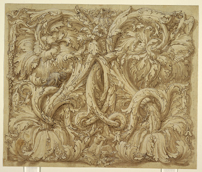 Design for Acanthus Rinceaux with Animals and Birds
