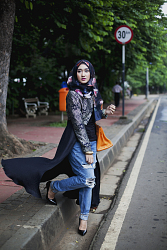 The Big Durian, Dian Pelangi, international fashion designer, from Modest Street Fashion vol. 1