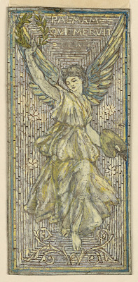 "Design for Mosaic or Stained Glass Window in Honor of a Painter (""Palmam Qui Meruit Ferat"")"