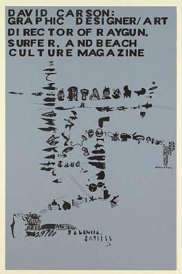 Cal Arts Program in Graphic Design Announcement: ...David Carson..., April 15, 1993