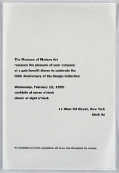 """60th Anniversary of the Design Collection"" MOMA"