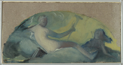 Study for a Tympanum with Reclining Figure