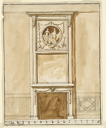 Mantlepiece and dado for room in the Villa Digne