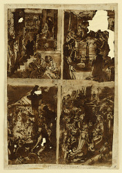 Eight preliminary designs for a print series dedicated to the Life of the Virgin (recto and verso)