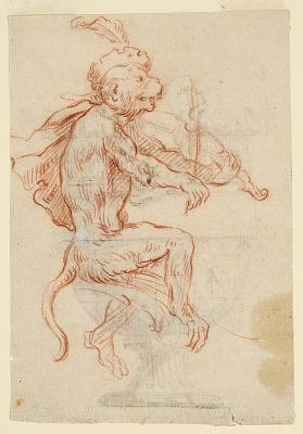 Monkey Playing a Violin