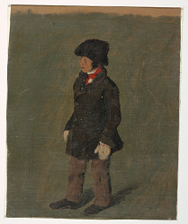 A boy (probably Church's son)