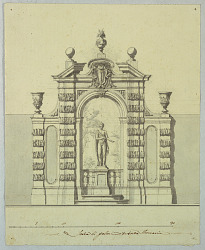 Design for Garden Architecture with Colonna Arms