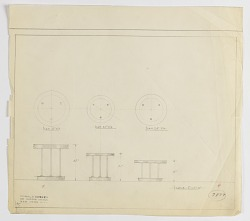 Three Designs for Round Occasional Table