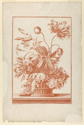 Basket of Flowers, Plate