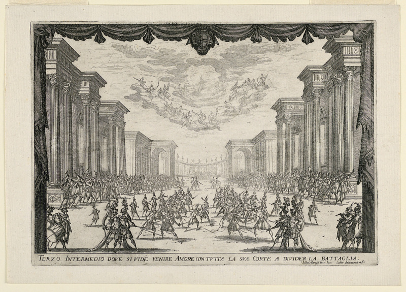 Image for Third Intermezzo, The Battle is Stopped by Love's Arrival with her Cortege