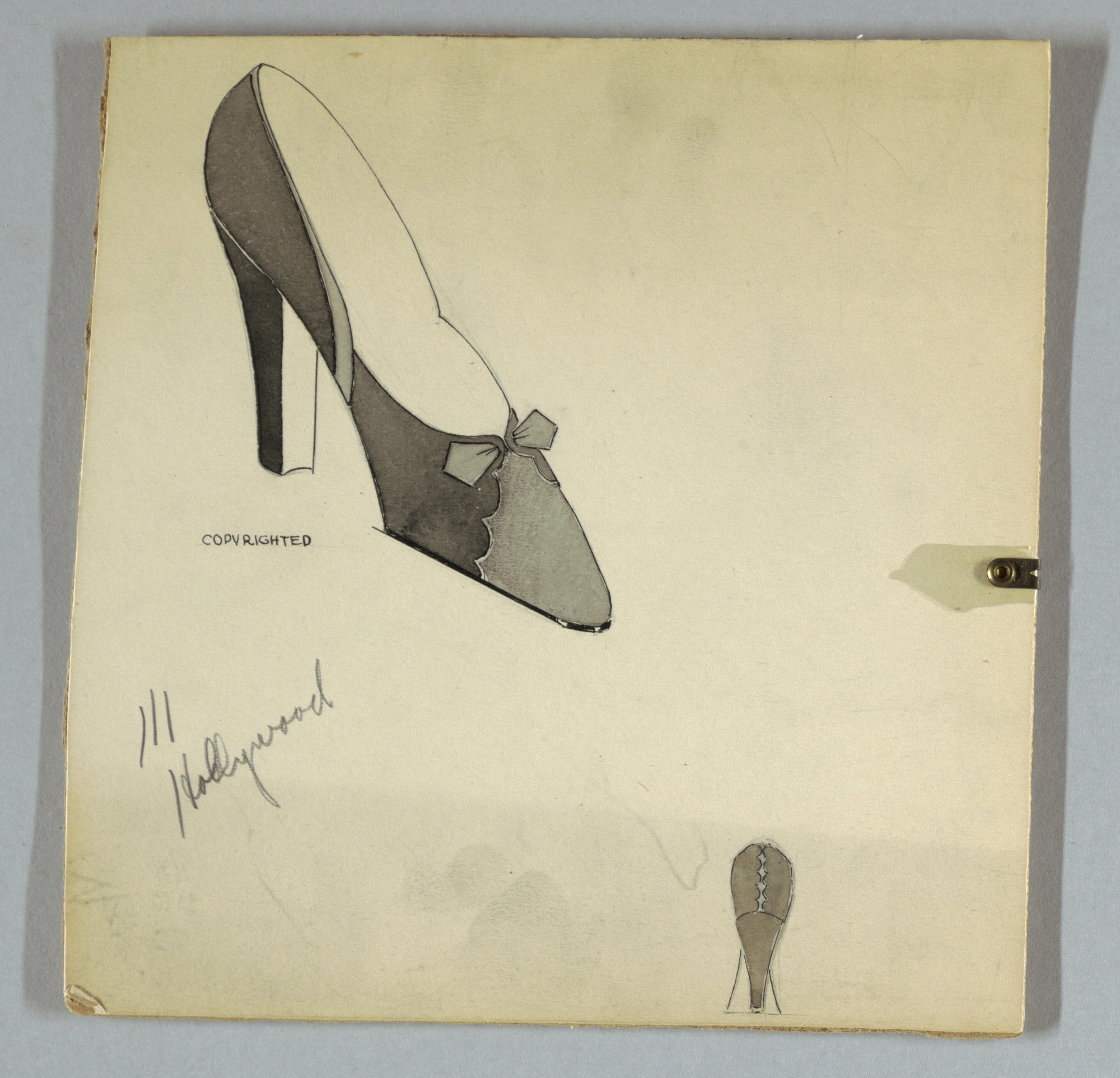 images for Design for a Shoe, for Delman Shoe Company, New York City