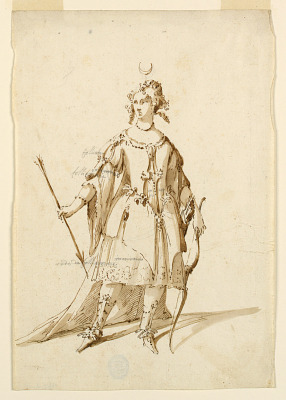 Costume Design: Diana for a Ballet
