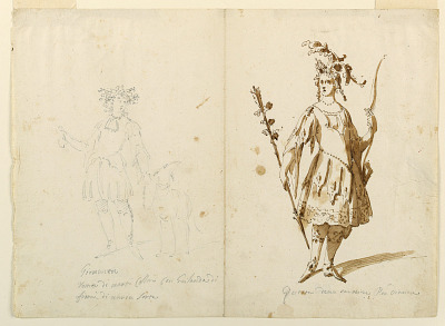 Costume Design: Youth and Diana for a Ballet