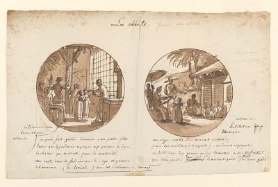 Designs for Painted Porcelain Plates, Les Ananas (Pineapples) from the Service des Objets de Dessert (Dessert Service)