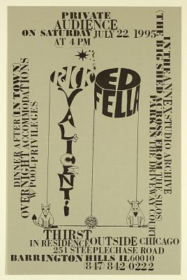 Rick Valicenti and Edward Fella/Annex Studio Archive