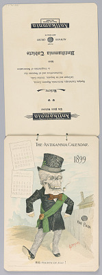 The Antikamnia Calendar, March and April, 1899: His Fourth of July!