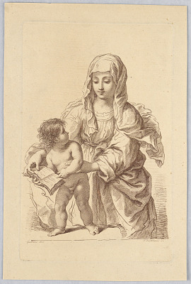 Virgin and Child Holding a Book