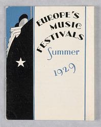 International Mercantile Marine Co./Europe's Music Festivals/Summer 1929