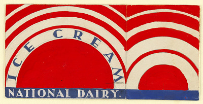 Label for National Dairy Ice Cream