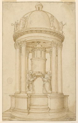 Project for a tabernacle intended to be executed in bronze