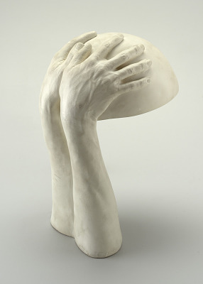 Plaster Hands Table Lamp