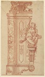 Furniture Design: Elevation of a Pedestal or Case