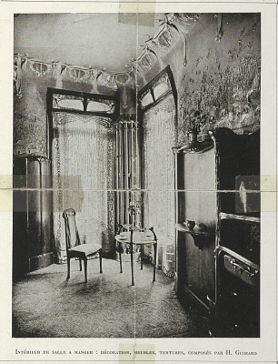Dining Room Interior Designed by Hector Guimard