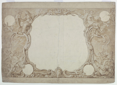 Design for an Ornamental Border Used for the Surround to the General Chart in John Pine's
