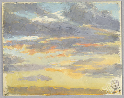 Study of clouds, Rome, Italy