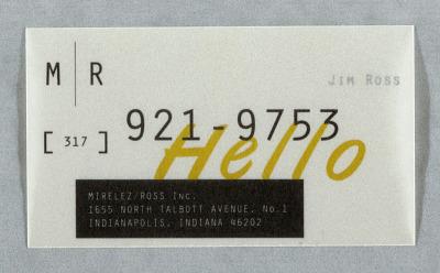Mirelez/Ross Inc. Business Card for Jim Ross