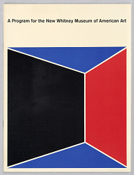 A Program for the New Whitney Museum of American Art, New York, NY