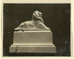 Plaster Model of a Lion Sculpture by R. I. Aitken