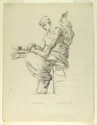 """The Morse Code, Study for """"Electricity as Applied to Commerce,"""" Manufactures and Liberal Arts Building, World's Columbian Exposition, Chicago, IL"""