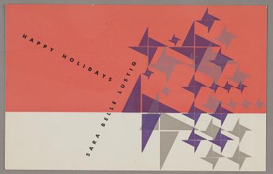 Design for Happy Holidays postcard for Sara Belle Lustig
