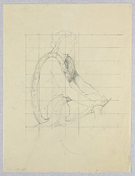 """Sketch of Polynesian Figure for """"The Marriage of the Atlantic and Pacific,"""" Mural in the Wisconsin State Capitol, Madison, WI"""