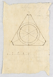 Recto: domed triangular room; Verso: colonnade and a dado