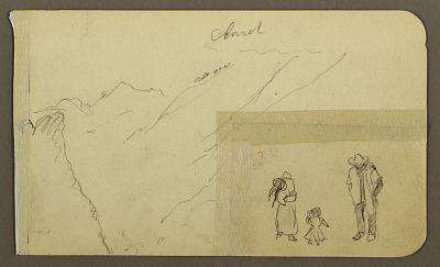 Mountain; Verso: Mountains, donkey