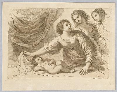 Three Women, with a Boy Lying Down