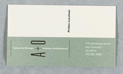 A+O, Industrial Design + Interior Architecture, San Francisco, Pirkko Lucchesi