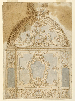 Decoration of a Wall and Ceiling to be Executed in Stucco