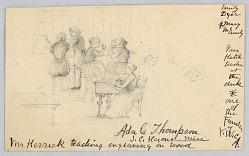 Mr. Herrick Teaching Wood Engraved in the Women's Art School, Cooper Union