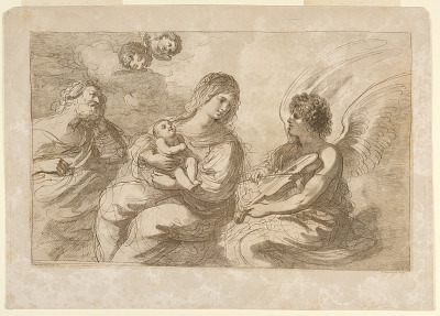 Virgin, Infant, and Joseph with an Angel Playing on a Violin