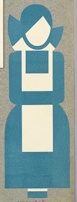 Woman Wearing Blue Uniform and White Apron, Logo for Qualitätwäsherei Zanten